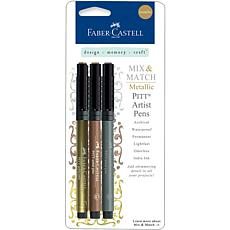 Mix and Match Metallic Pens - Gold, Copper, Silver