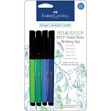 Mix and Match Pitt Artist Pens - 4-pack Blue/Green