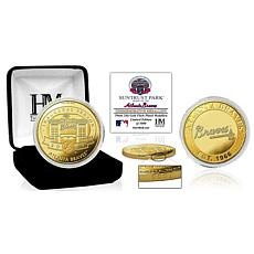 MLB Atlanta Braves SunTrust Park Inaugural Season Gold Mint Coin