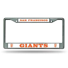 MLB Block Letters Chrome License Plate Frame - Giants