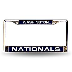 MLB Blue Laser-Cut Chrome License Plate Frame - Nationals
