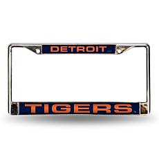 MLB Blue Laser-Cut Chrome License Plate Frame - Tigers