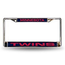 MLB Blue Laser-Cut Chrome License Plate Frame - Twins
