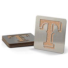 MLB Boasters 4-piece Coaster Set - Texas Rangers