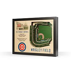 MLB Chicago Cubs StadiumViews 3-D Wall Art - Wrigley Field