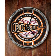 MLB Chrome Clock - Baltimore Orioles