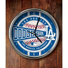 MLB Chrome Clock - Los Angeles Dodgers