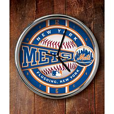 MLB Chrome Clock - New York Mets