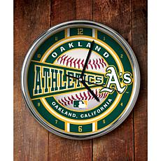 MLB Chrome Clock - Oakland A's