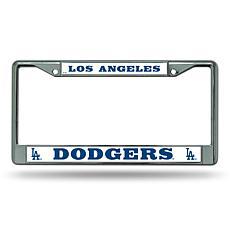 MLB Chrome License Plate Frame - Dodgers