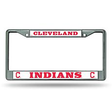 MLB Chrome License Plate Frame - Indians