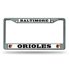 MLB Chrome License Plate Frame - Orioles