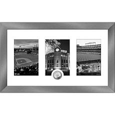 MLB Colorado Rockies Art Deco Silver-Plated Coin Photo Mint
