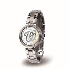 MLB Crystal Charm Watch - Washington Nationals
