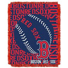 MLB Double Play Woven Throw - Boston Red Sox