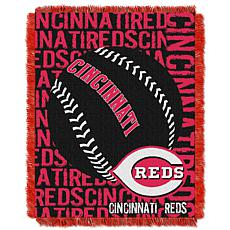 MLB Double Play Woven Throw - Cincinnati Reds