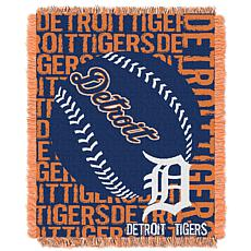 MLB Double Play Woven Throw - Detroit Tigers
