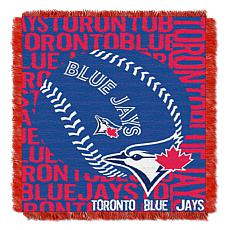 MLB Double Play Woven Throw - Toronto Blue Jays