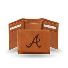 MLB Embossed Trifold Wallet - Braves