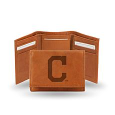 MLB Embossed Trifold Wallet - Indians