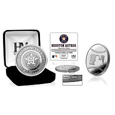 MLB Houston Astros Silver-Plated Coin