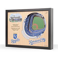 MLB Kansas City Royals StadiumViews 3-D Wall Art - Kauffman Stadium