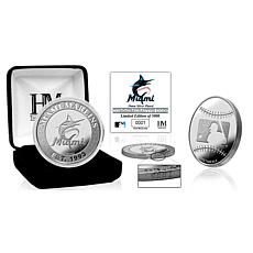 MLB Miami Marlins Silver-Plated Coin