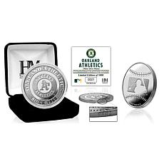 MLB Oakland Athletics Mets Silver-Plated Coin