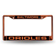 MLB Orange Laser-Cut Chrome License Plate Frame - Orioles