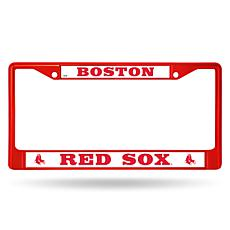 MLB Red Chrome License Plate Frame - Red Sox