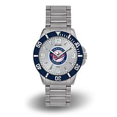 "MLB Sparo ""Key"" Team Logo Stainless Steel Bracelet Watch - Twins"