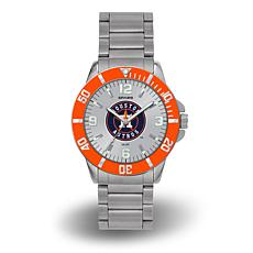 "MLB Sparo ""Key"" Team Logo Stainless Steel Watch - Houston Astros"