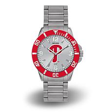 "MLB Sparo ""Key"" Team Logo Stainless Steel Watch- Philadelphia Phill..."
