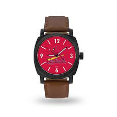 "MLB Sparo ""Knight"" Faux Leather Watch - Cardinals"