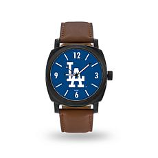 "MLB Sparo ""Knight"" Faux Leather Watch - Dodgers"