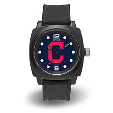 "MLB Sparo Team Logo ""Prompt"" Black Strap Sports Watch - Indians"