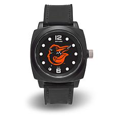 "MLB Sparo Team Logo ""Prompt"" Black Strap Sports Watch - Orioles"