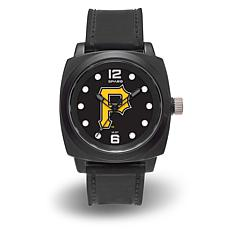 "MLB Sparo Team Logo ""Prompt"" Black Strap Sports Watch - Pirates"