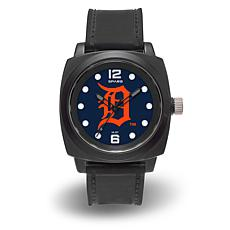 "MLB Sparo Team Logo ""Prompt"" Black Strap Sports Watch - Tigers"