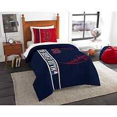 MLB Twin Comforter and Sham - Red Sox