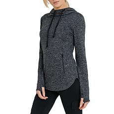 Mono B 2-Tone Grey Marled Active Hoodie Pullover