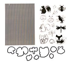 Motion Crafts Animation Clear Stamp and Die Set - Bird and Dragonfly