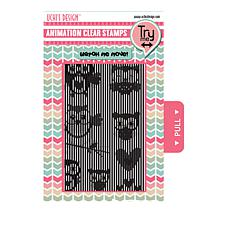 Motion Crafts Animation Clear Stamp Set - Flying Owls