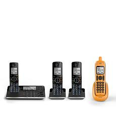 Motorola 4pk Cordless Phones w/Rugged Handset