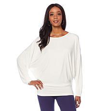 Motto Dolman Long-Sleeve Tunic Top
