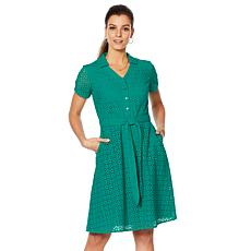 Motto Effortless Eyelet Shirt Dress