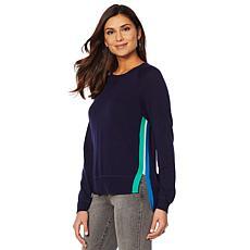 Motto Fearless Side Stripe Sweater