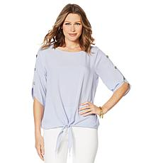 Motto Timeless Tie-Front Top