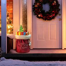 "Mr. Christmas 30"" LED Santa's Toy Bag"