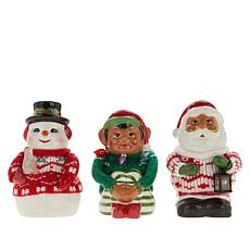 Mr. Christmas Nostalgic Figures in Sweaters - Set of 3